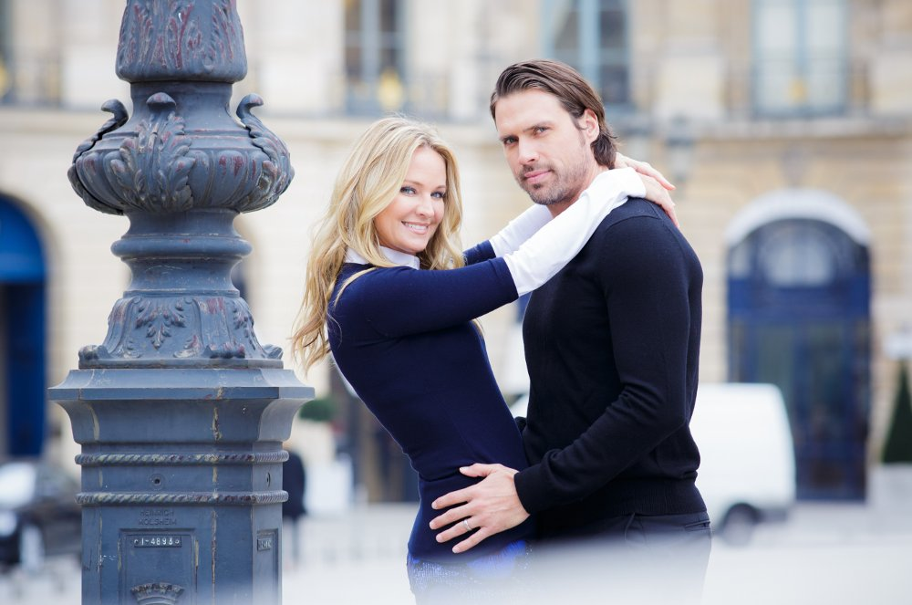 Sharon Case et Joshua Morrow à Paris ©TF1