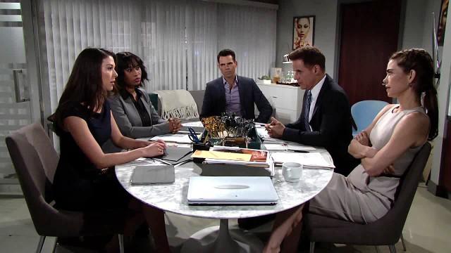 Les Feux de l'Amour, épisode N°11213 diffusé le 5 juillet 2017 sur cbs aux USA