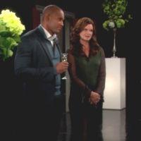 Amour, Gloire et Beauté : Katie (Heather Tom) et Carter sont consternés par les propos de Maya.