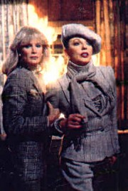 Linda Evans (Krystle Jennings Carrington)  & Joan Collins (Alexis Carrington Colby)